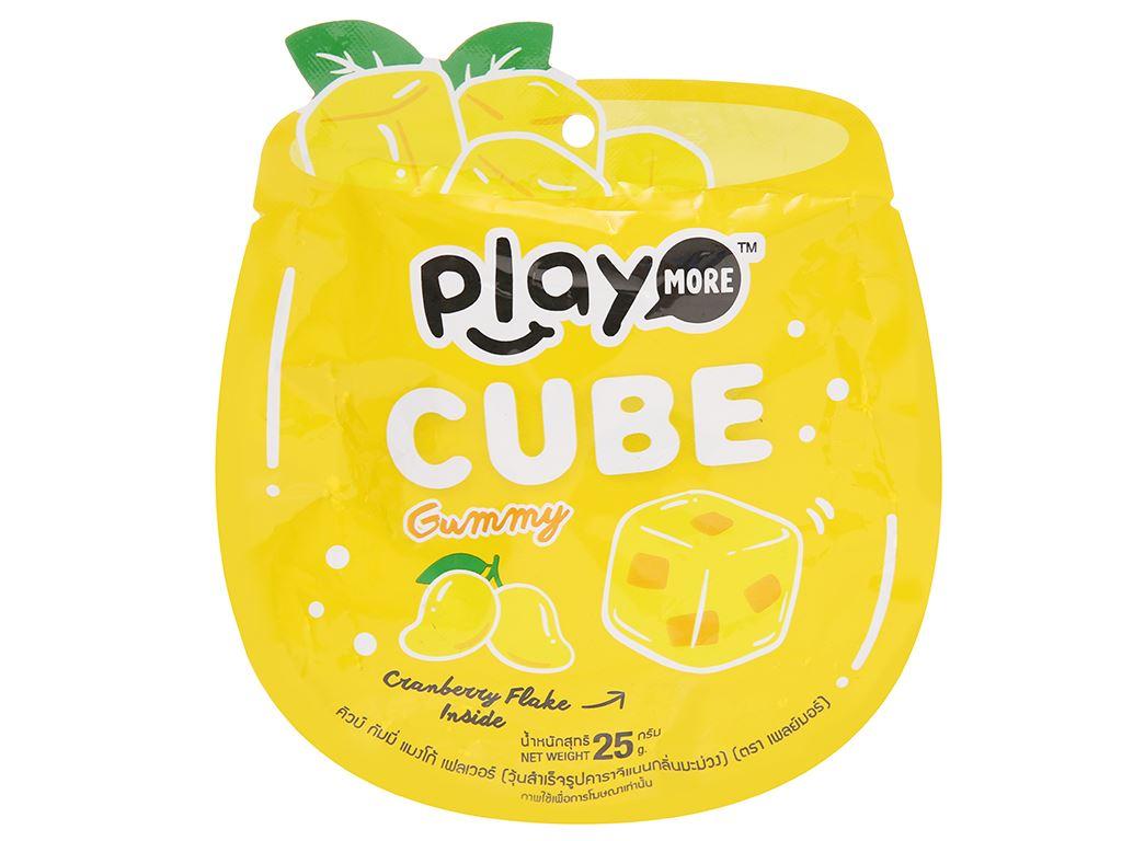 Kẹo dẻo viên vị nam việt quất hương xoài Play More gói 25g 1