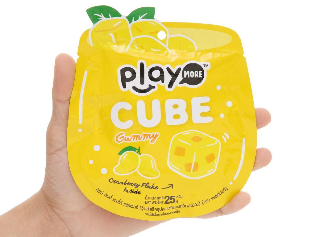 Kẹo dẻo viên vị nam việt quất hương xoài Play More gói 25g 4