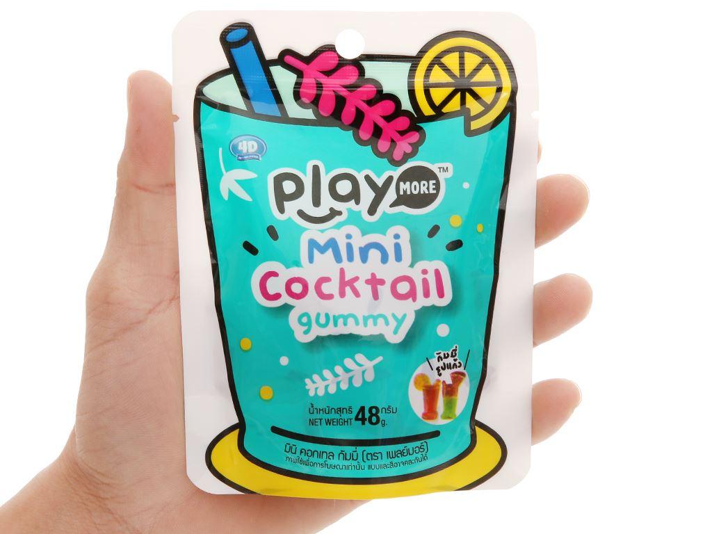 Kẹp dẻo hình ly Play More Cocktail Mini gói 48g 4