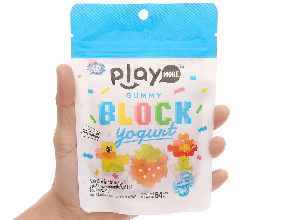 Kẹo dẻo xếp hình vị sữa chua Play More gói 64g 4