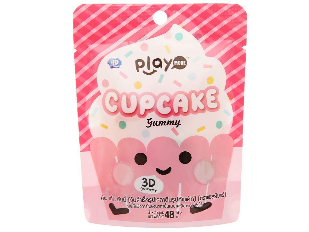 Kẹo dẻo hình bánh cupcake Play More gói 48g 1