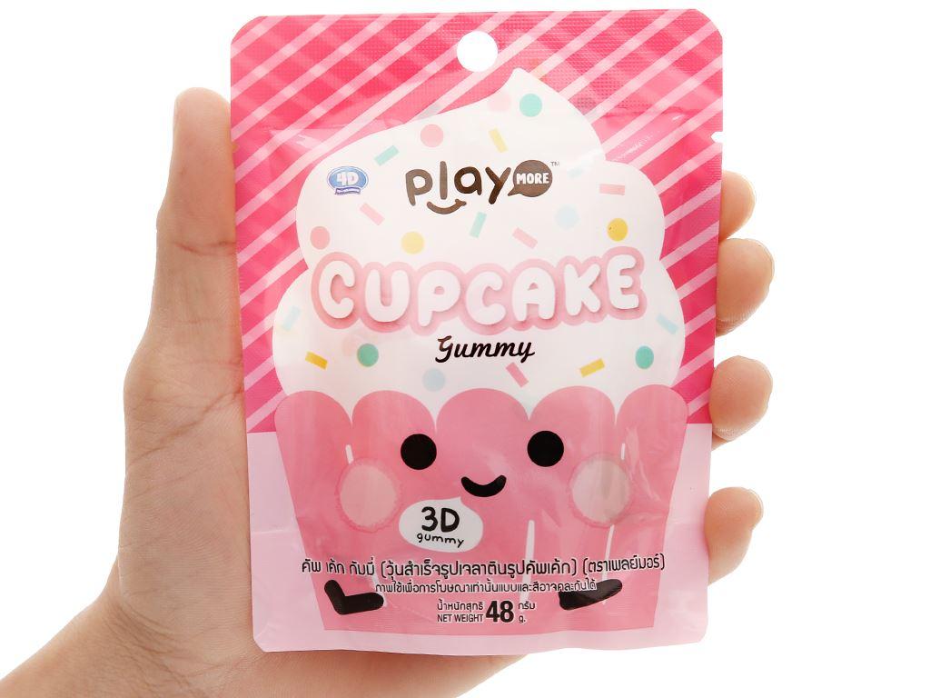 Kẹo dẻo hình bánh cupcake Play More gói 48g 4