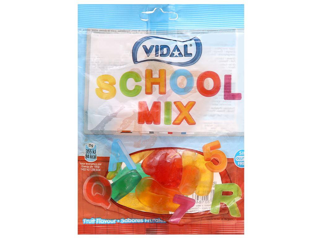 Kẹo dẻo chữ cái và số Vidal gói 100g 1