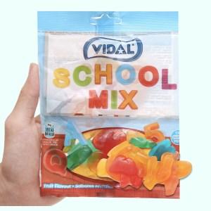 Kẹo dẻo chữ cái và số Vidal gói 100g