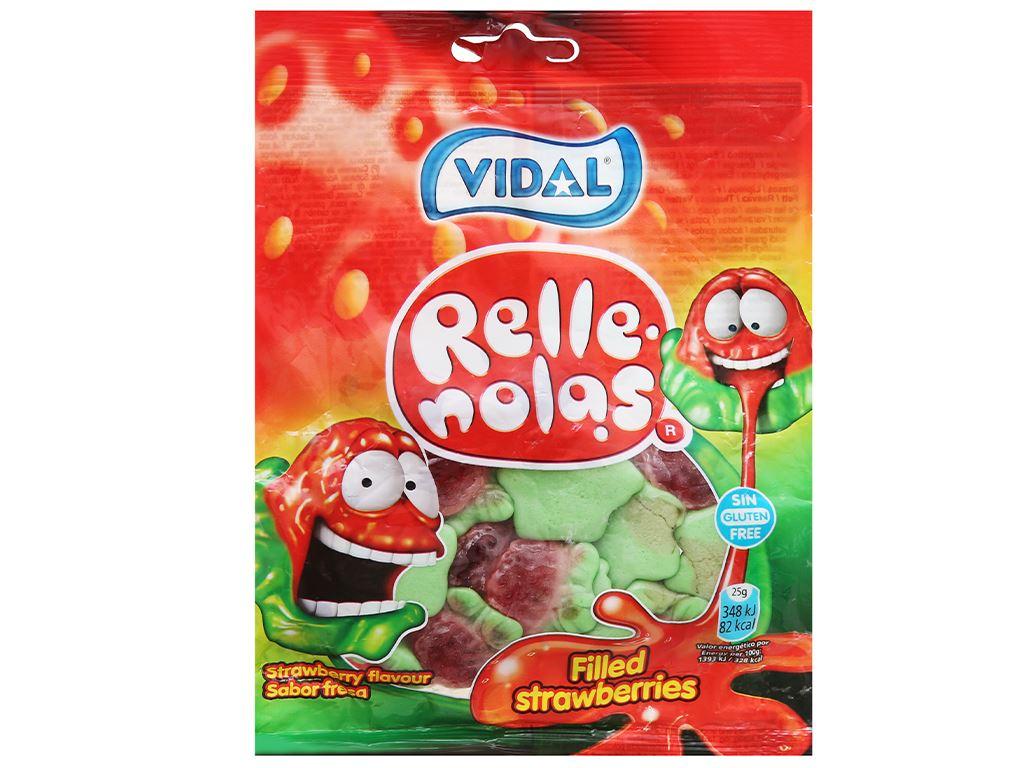 Kẹo dẻo hương dâu nhân thạch Vidal gói 100g 1