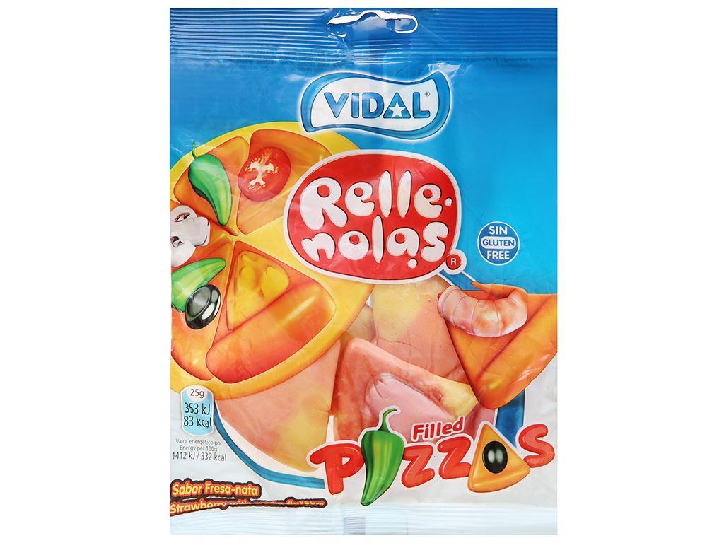 Kẹo dẻo hình miếng pizza nhân thạch Vidal gói 100g 1