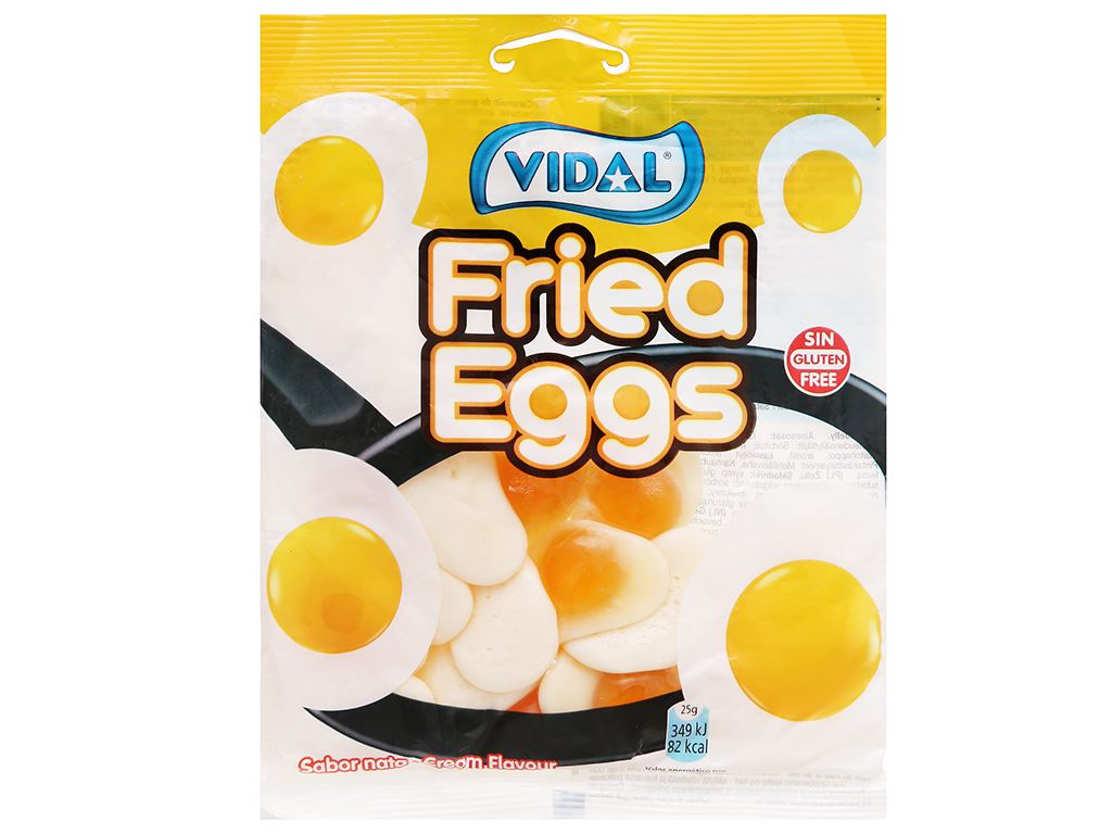 Kẹo dẻo hình quả trứng chiên Vidal gói 100g 1