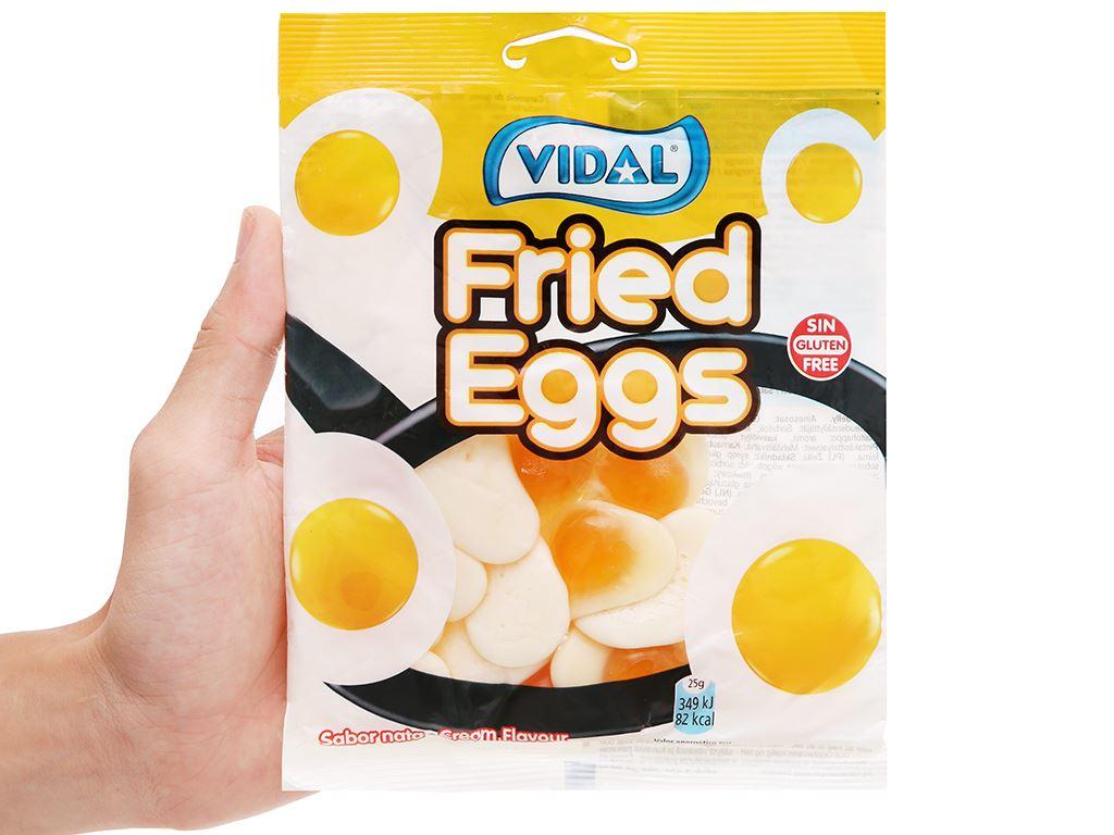 Kẹo dẻo hình quả trứng chiên Vidal gói 100g 4