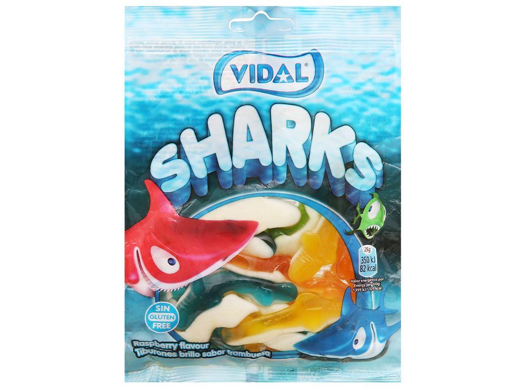 Kẹo dẻo con cá mập Vidal gói 100g 1
