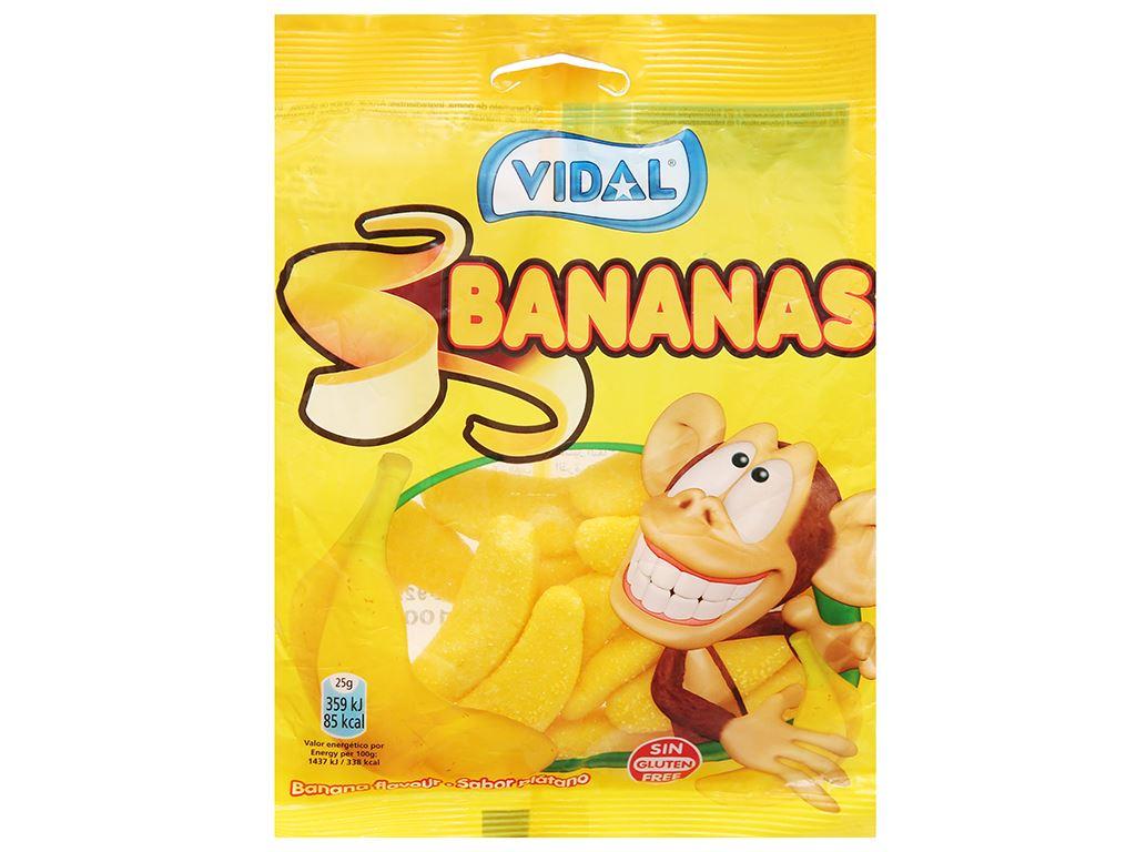 Kẹo dẻo hình quả chuối Vidal gói 100g 1