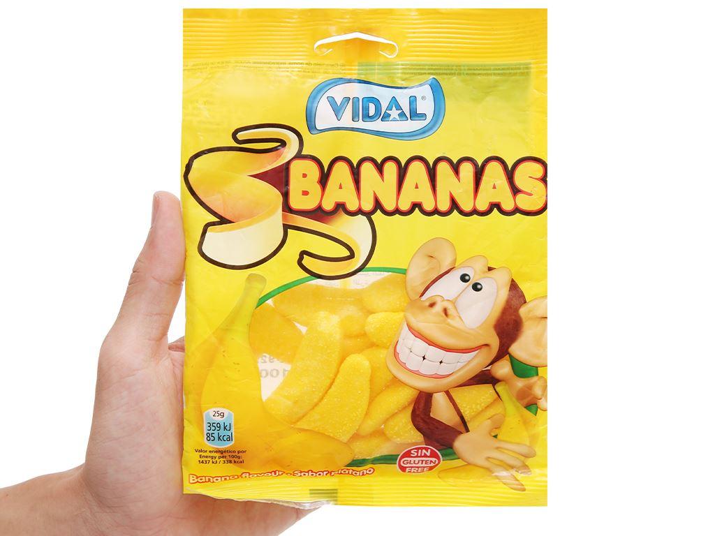 Kẹo dẻo hình quả chuối Vidal gói 100g 4