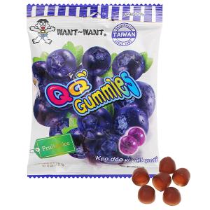 Kẹo dẻo vị việt quất Want Want QQ Gummies gói 70g