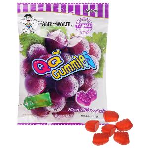 Kẹo dẻo vị nho Want Want QQ Gummies gói 70g