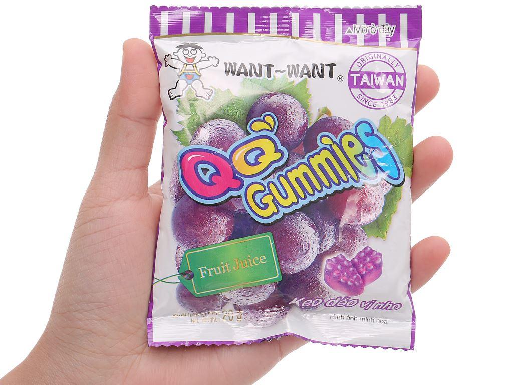 Kẹo dẻo vị nho Want Want QQ Gummies gói 20g 5