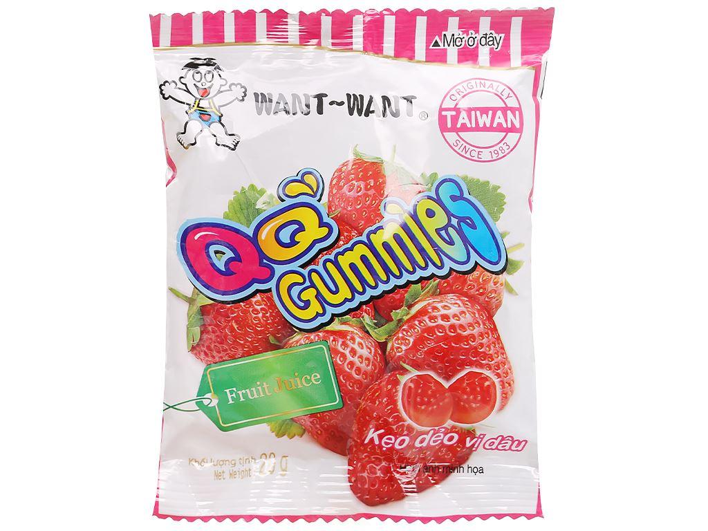 Kẹo dẻo vị dâu Want Want QQ Gummies gói 20g 1