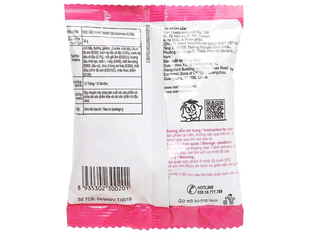 Kẹo dẻo vị dâu Want Want QQ Gummies gói 20g 2