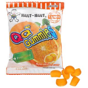 Kẹo dẻo vị cam Want Want QQ Gummies gói 20g