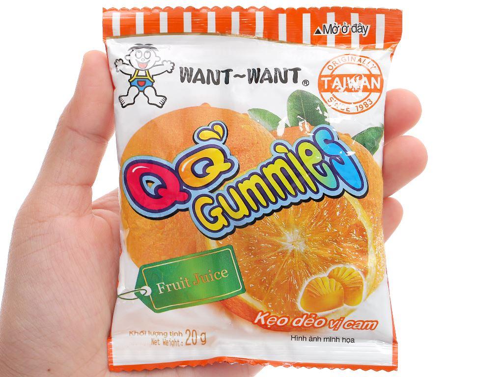 Kẹo dẻo vị cam Want Want QQ Gummies gói 20g 5