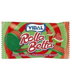 Kẹo dẻo cuộn vị dưa hấu Vidal Rolla Belta gói 19g