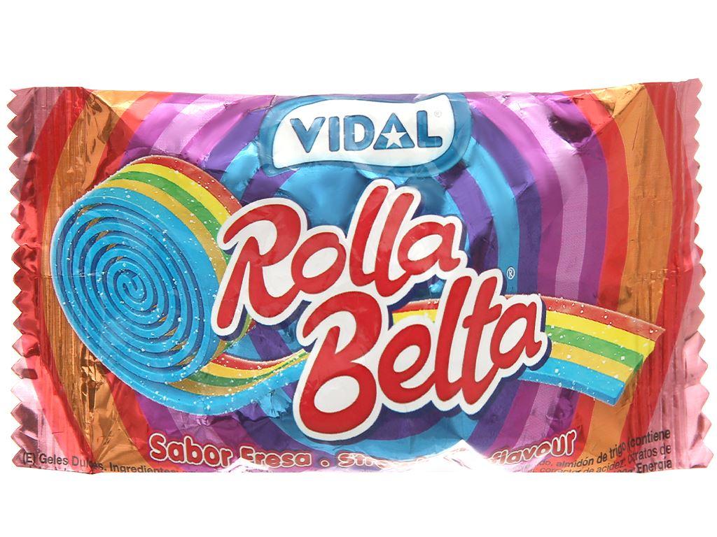Kẹo dẻo cuộn cầu vồng Vidal Rolla Belta gói 19g 1