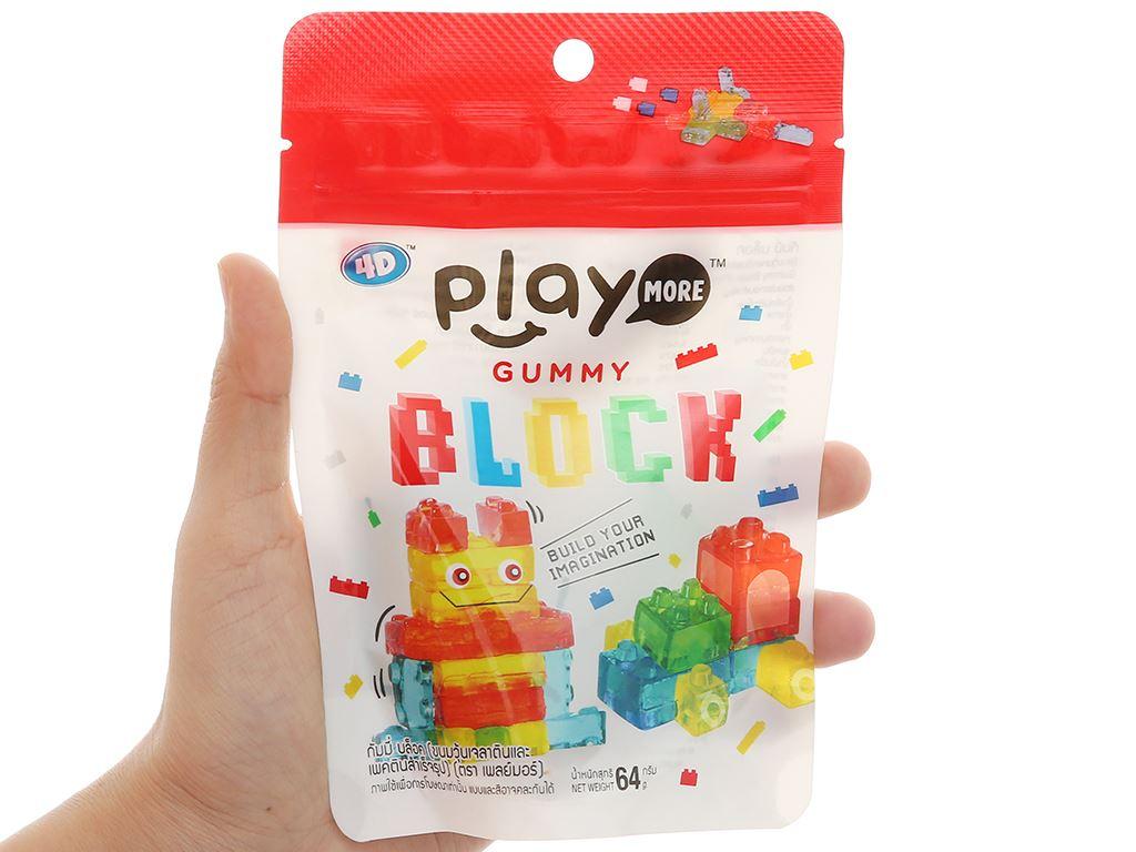 Kẹo dẻo xếp hình Play More Gummy Block gói 64g 3