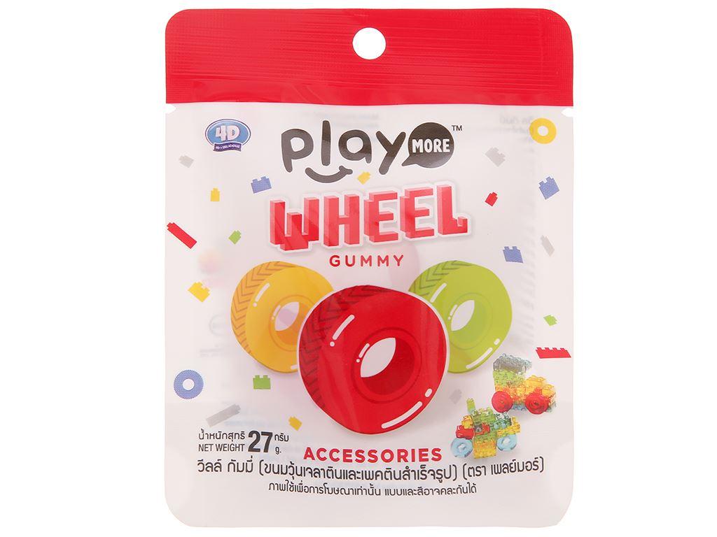 Kẹo dẻo hình bánh xe Play More Wheel gói 27g 1