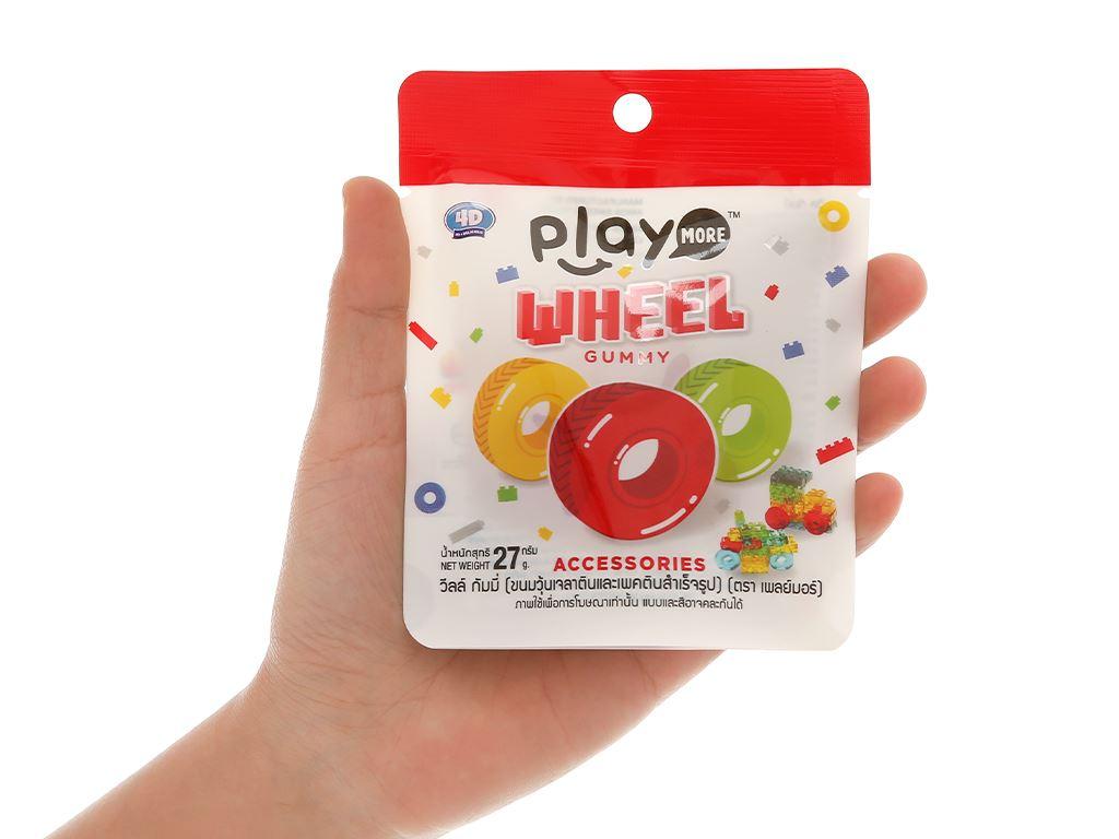Kẹo dẻo hình bánh xe Play More Wheel gói 27g 3