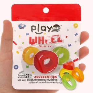 Kẹo dẻo hình bánh xe Play More Wheel gói 27g