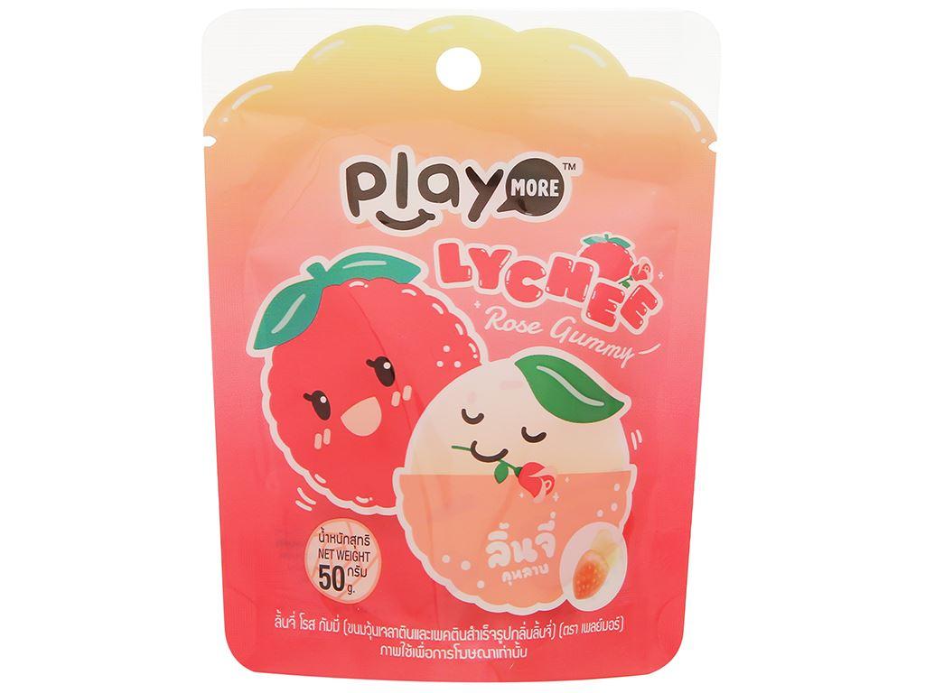 Kẹo dẻo hương vải Play More Lychee gói 50g 1