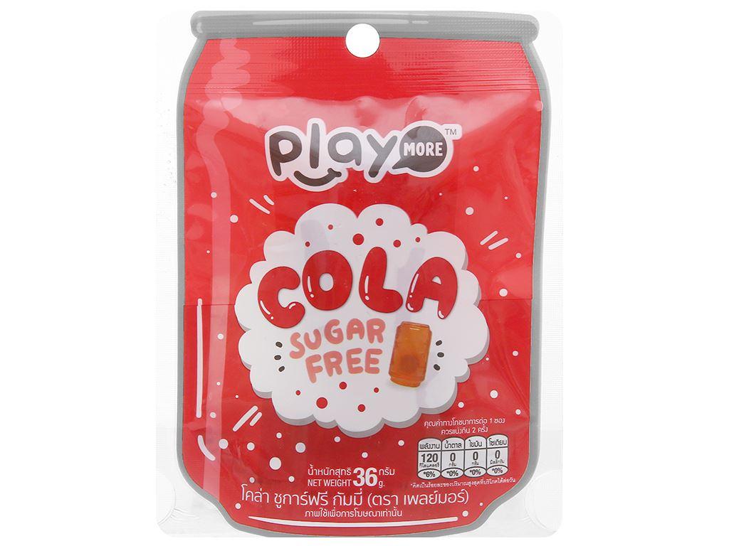 Kẹo dẻo hương cola Play More gói 36g 1