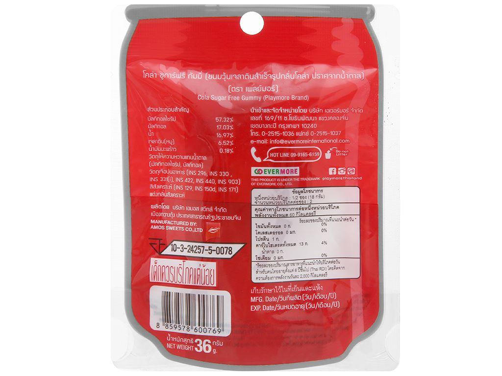 Kẹo dẻo hương cola Play More gói 36g 2
