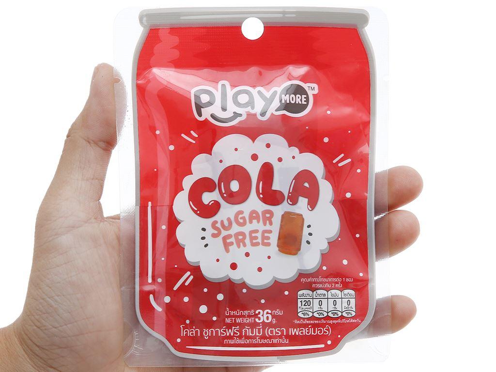 Kẹo dẻo hương cola Play More gói 36g 3
