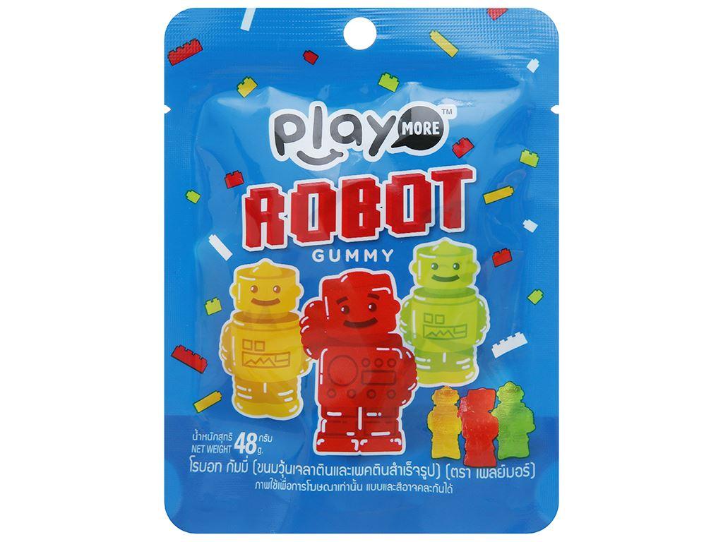 Kẹo dẻo Play More Robot gói 48g 1