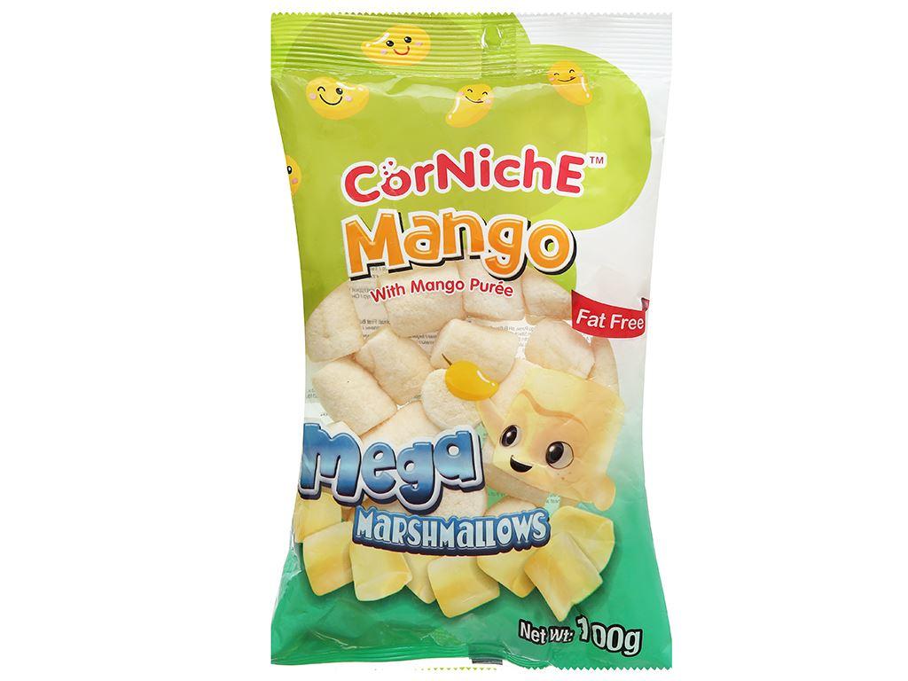 Kẹo xốp hương xoài CorNichE Mega Mango Marshmallows gói 100g 1