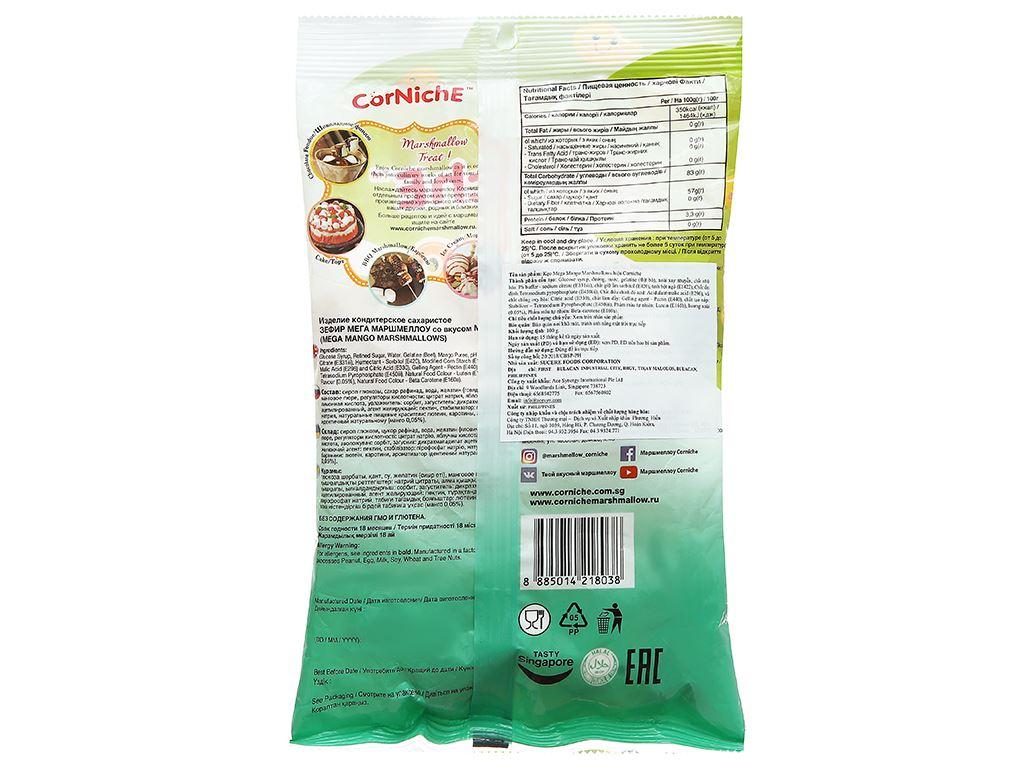 Kẹo xốp hương xoài CorNichE Mega Mango Marshmallows gói 100g 2