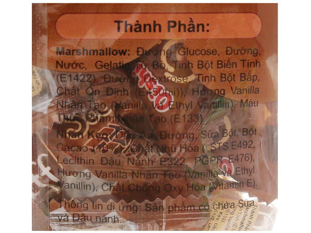Kẹo xốp nhân socola Oishi Puff gói 84g 4