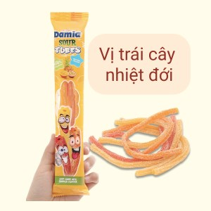 Kẹo dẻo hương trái cây nhiệt đới Damla Sour Tubes gói 35g
