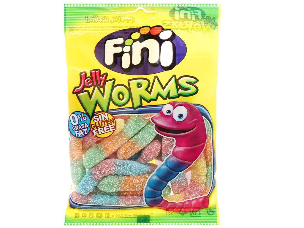 Kẹo dẻo Fini Jelly Worms gói 100g 1