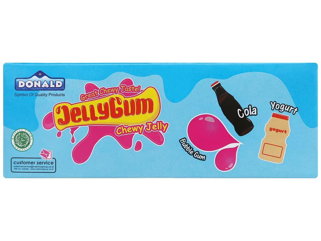 Kẹo thạch hương bubble gum, cola, sữa chua Donald hộp 600g 2