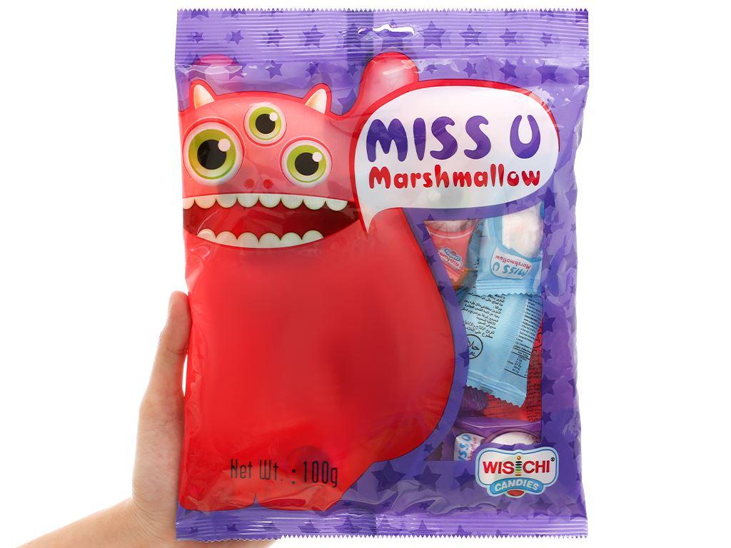 Kẹo marshmallow Wisichi Jam Filled gói 100g 5