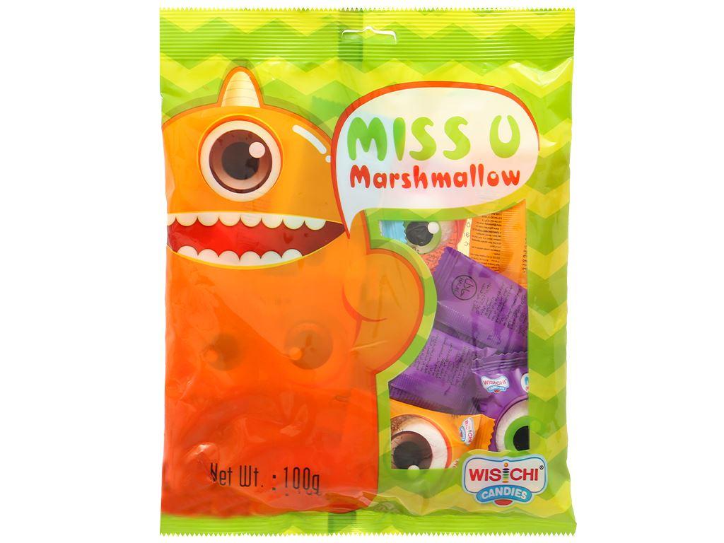 Kẹo marshmallow Wisichi Jam Filled gói 100g 7