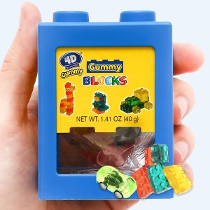 Kẹo dẻo Amos đồ chơi xếp hình 4D hộp 40g