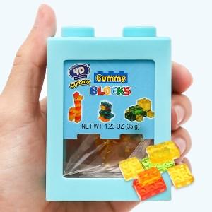 Kẹo dẻo Amos đồ chơi xếp hình 4D hộp 35g