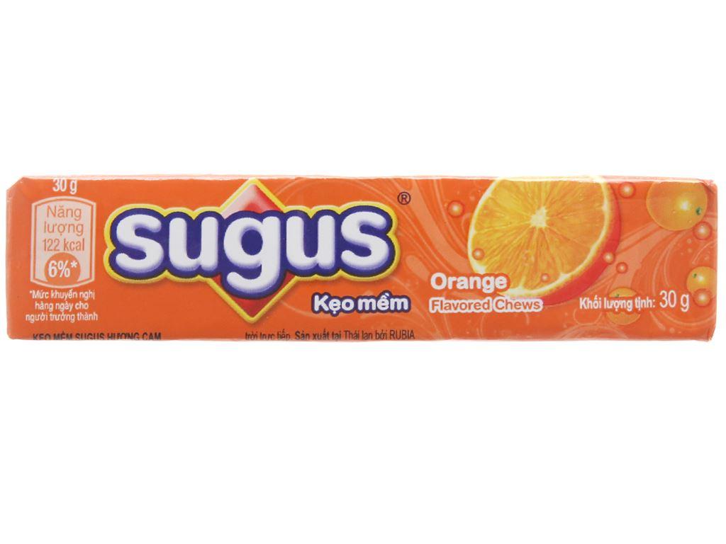 Kẹo mềm hương cam Sugus gói 90g (3 thanh) 4