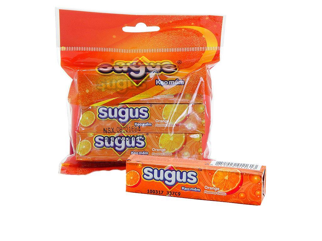 Kẹo mềm hương cam Sugus gói 90g (3 thanh) 2