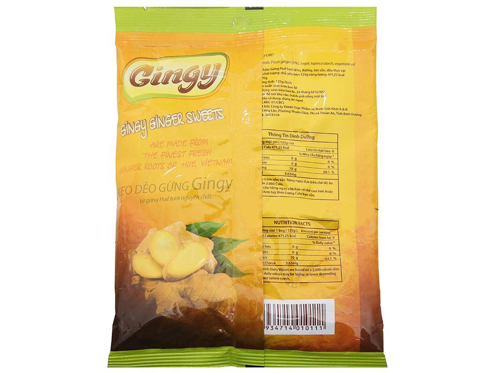Kẹo dẻo gừng Gingy gói 125g 2