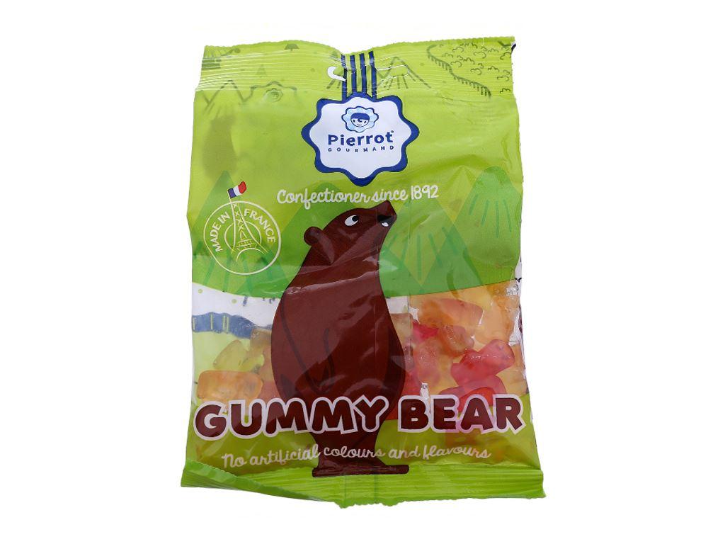 Kẹo dẻo trái cây Pierrot hình Gấu 80g 2