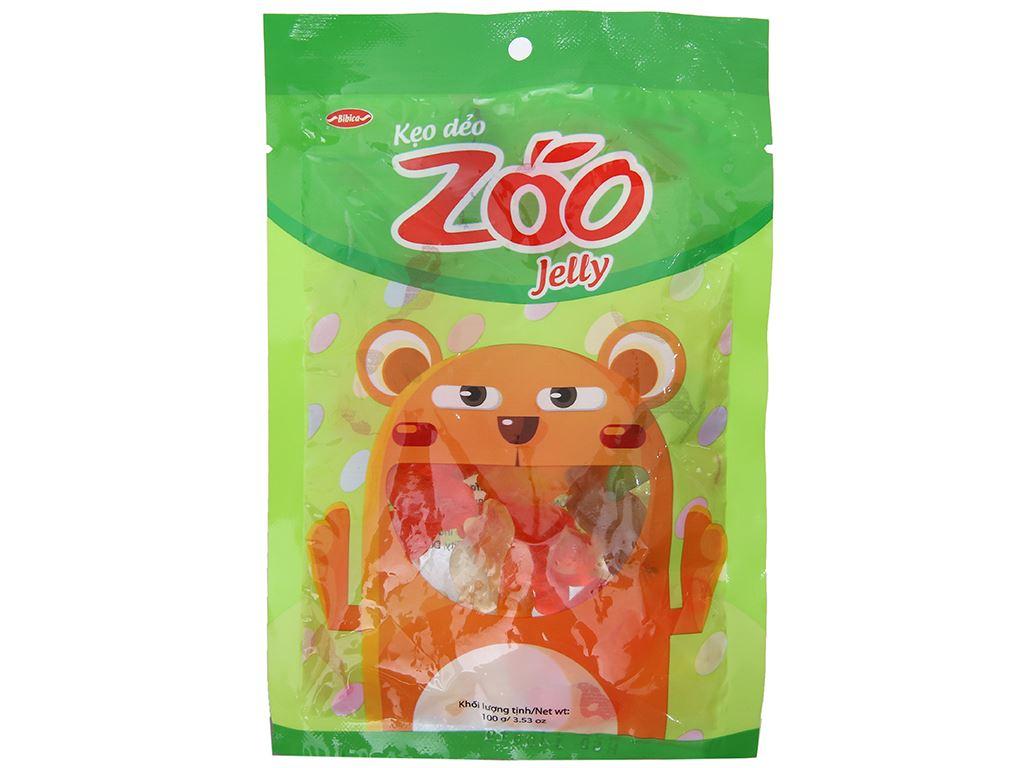 Kẹo dẻo hương trái cây Bibica Zoo Jelly gói 100g 1