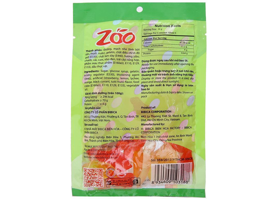 Kẹo dẻo hương trái cây Bibica Zoo Jelly gói 100g 2