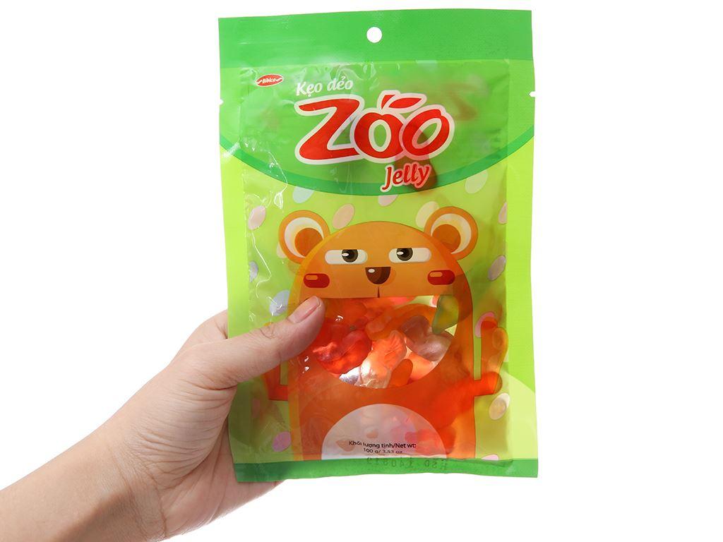Kẹo dẻo hương trái cây Bibica Zoo Jelly gói 100g 3